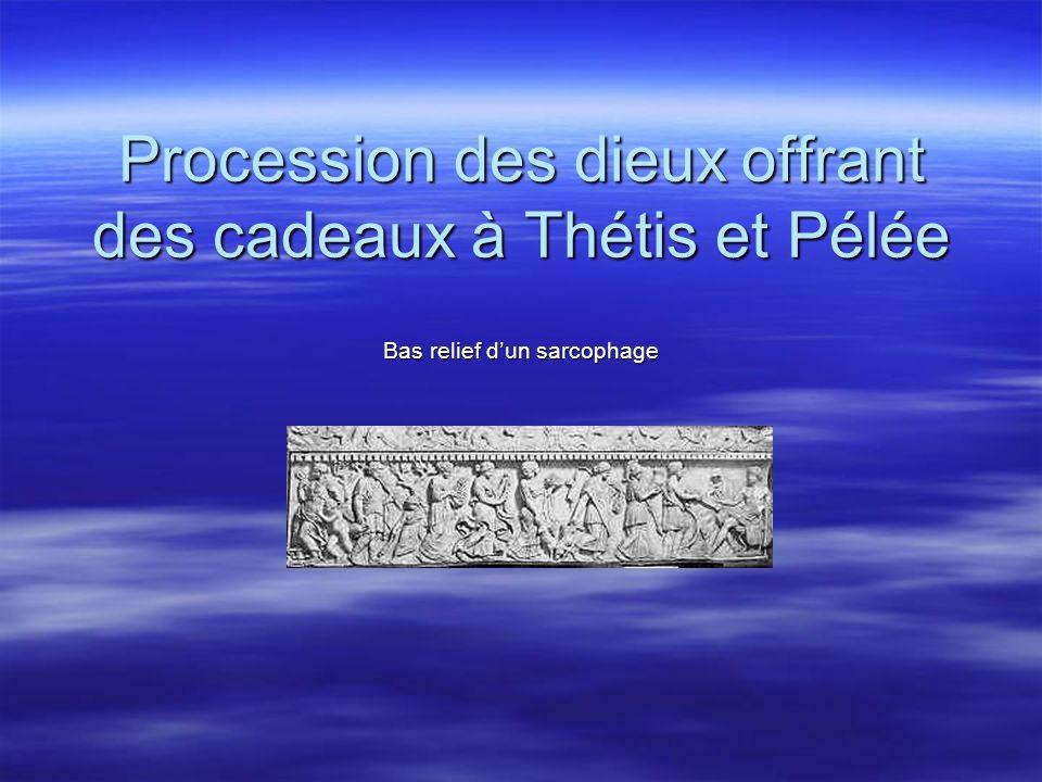 Procession des dieux offrant des cadeaux à Thétis et Pélée