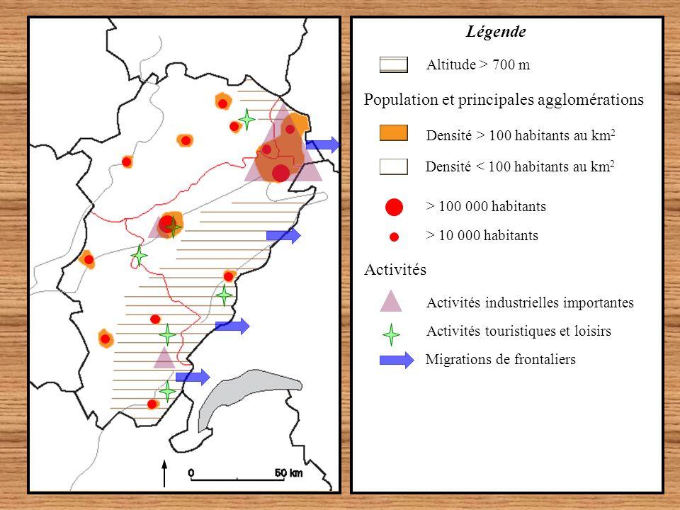 Population et principales agglomérations