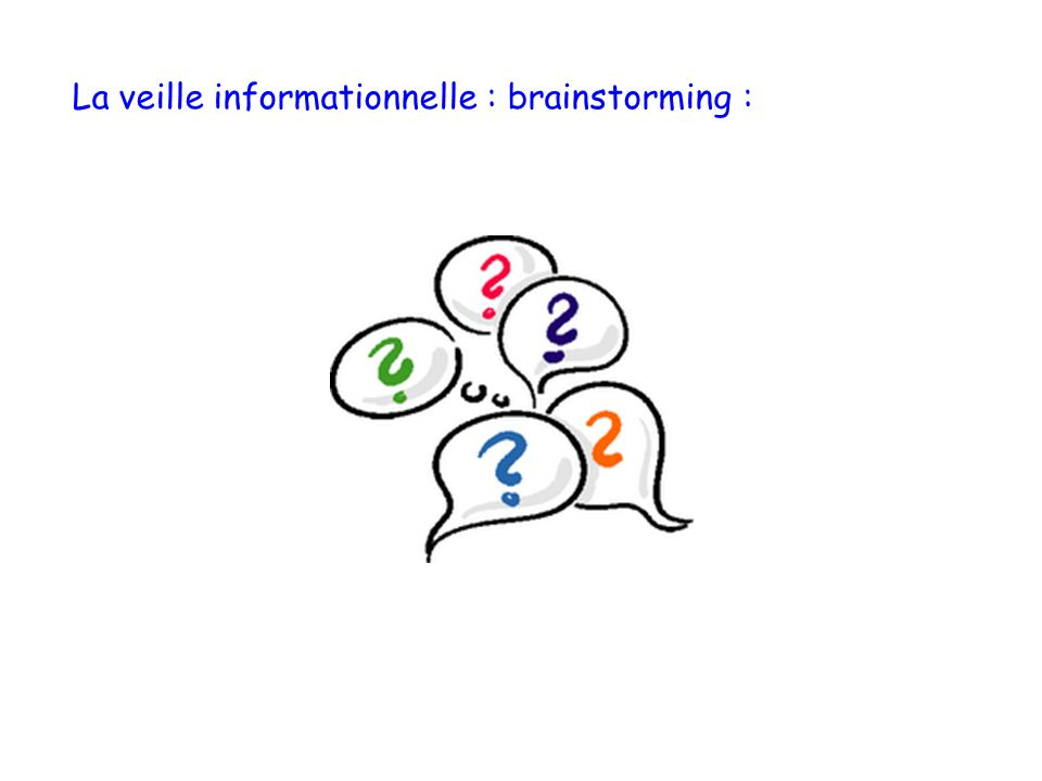 La veille informationnelle : brainstorming :