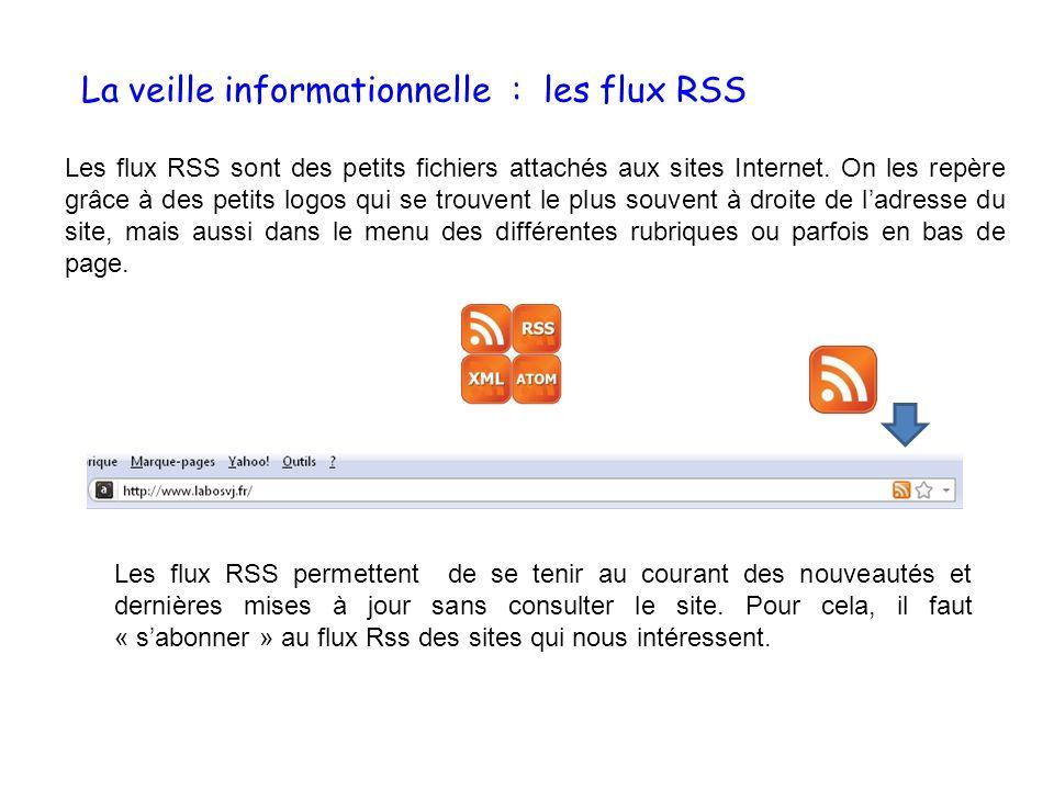 La veille informationnelle : les flux RSS