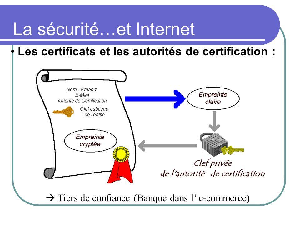 La sécurité…et Internet