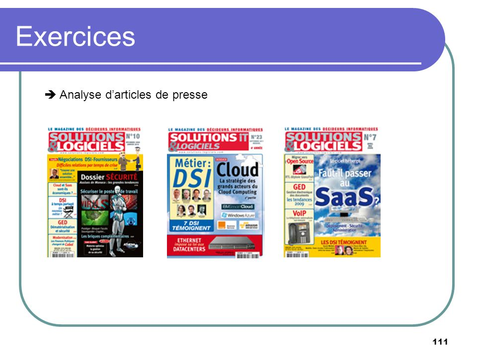 Exercices  Analyse d'articles de presse