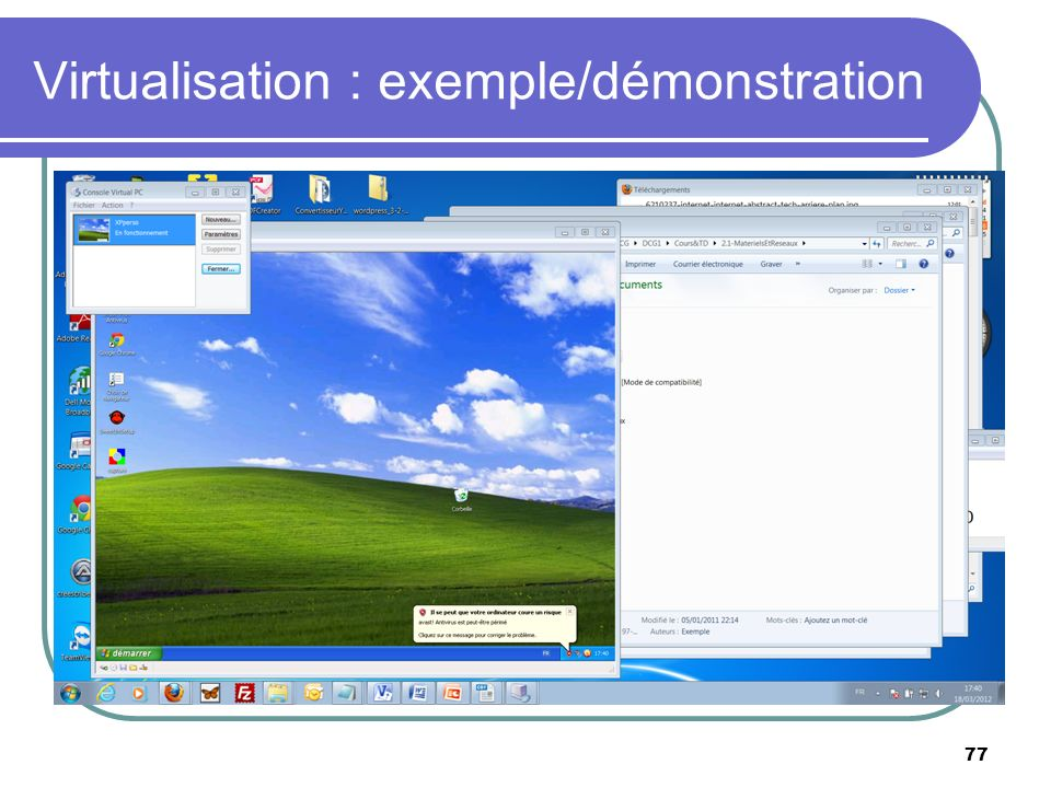 Virtualisation : exemple/démonstration