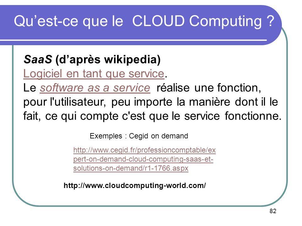 Qu'est-ce que le CLOUD Computing