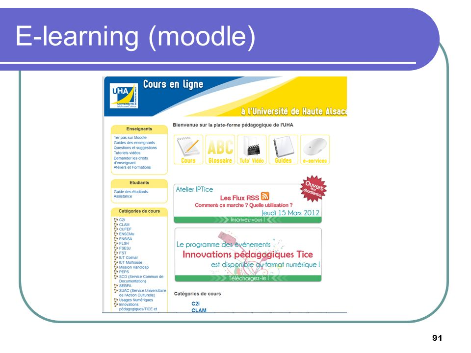 E-learning (moodle)