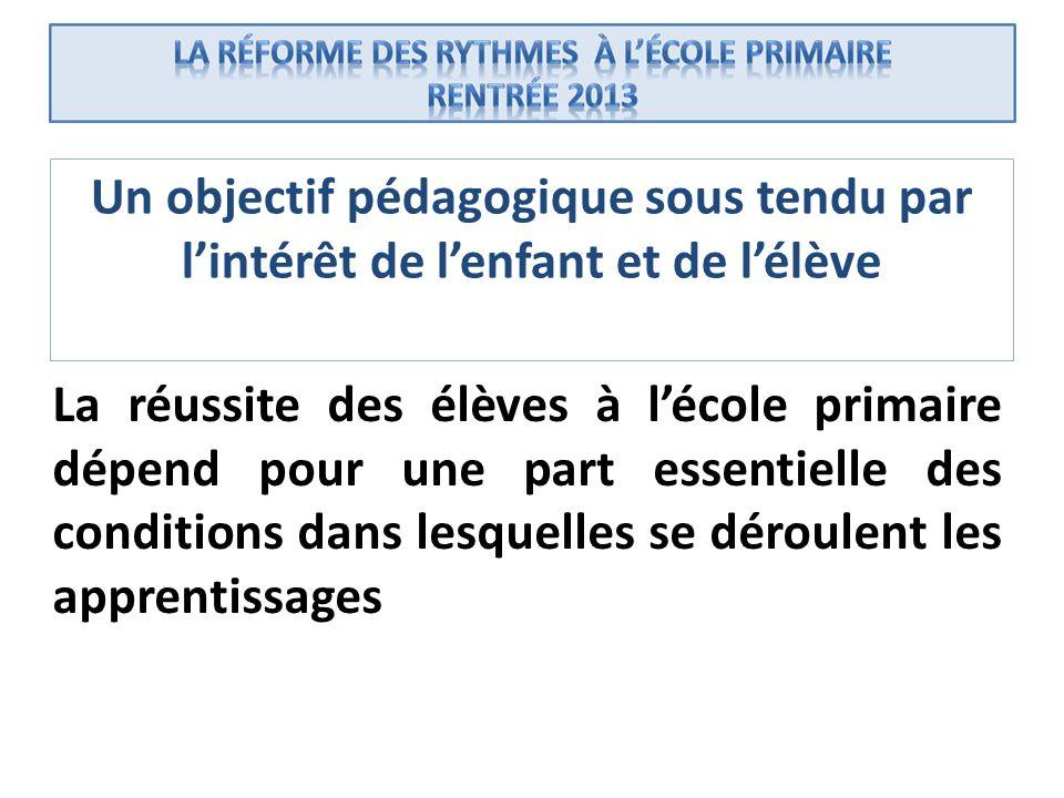 Un objectif pédagogique sous tendu par l'intérêt de l'enfant et de l'élève