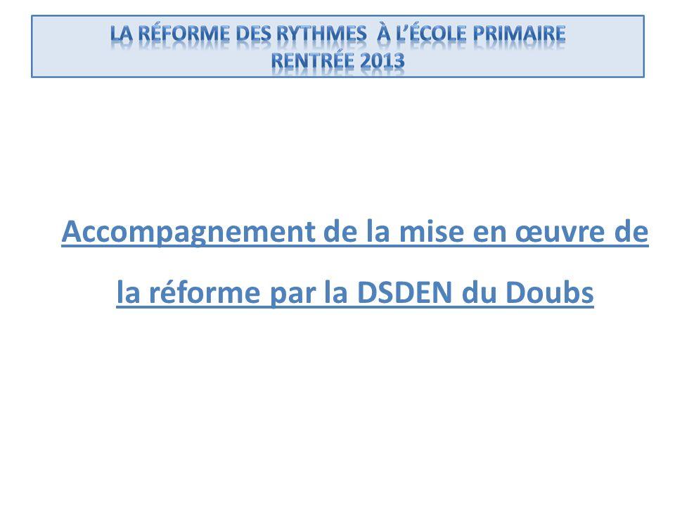 Accompagnement de la mise en œuvre de la réforme par la DSDEN du Doubs