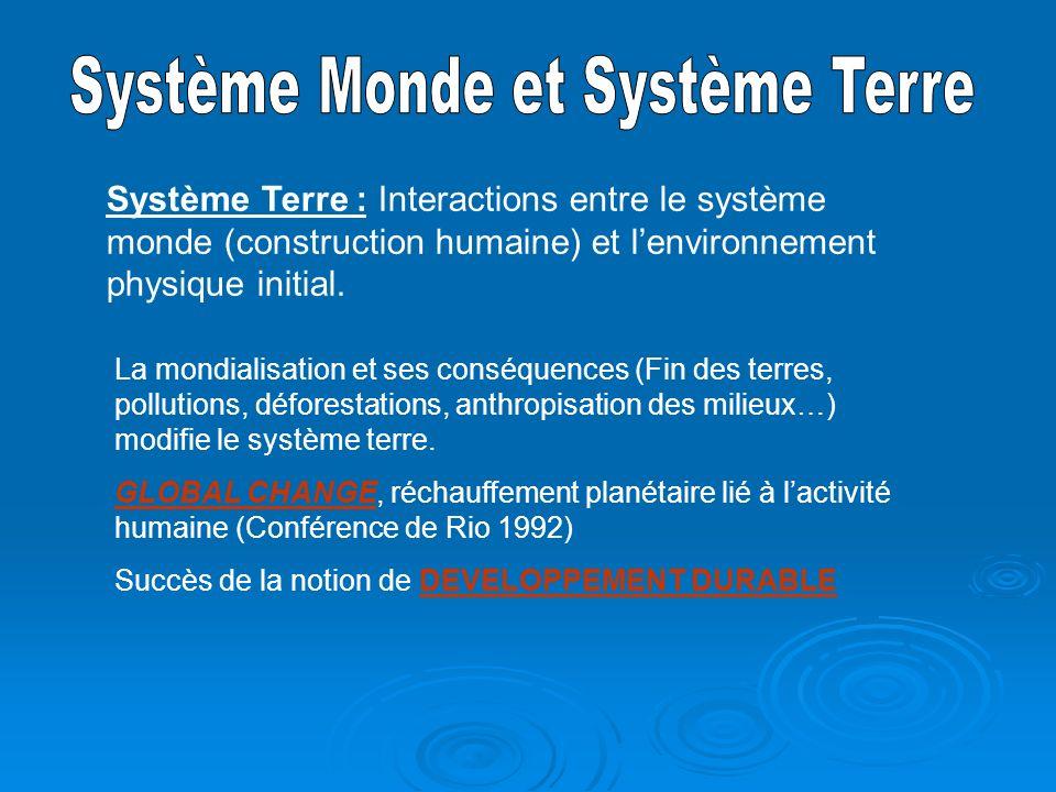 Système Monde et Système Terre