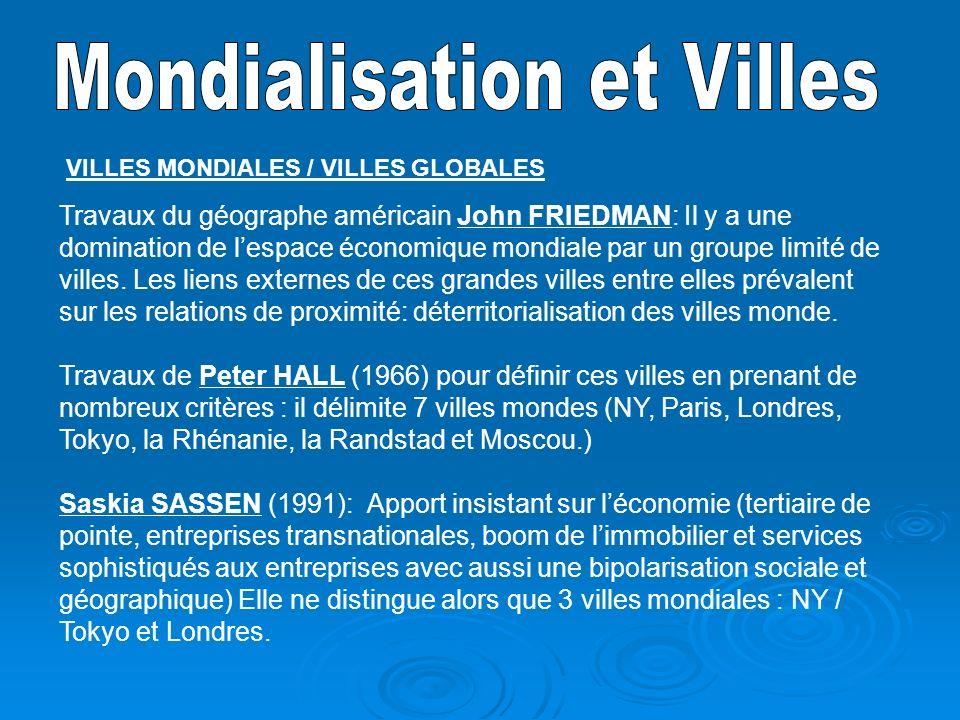 Mondialisation et Villes