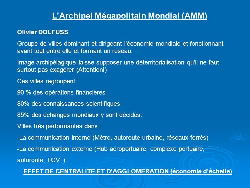 L'Archipel Mégapolitain Mondial (AMM)