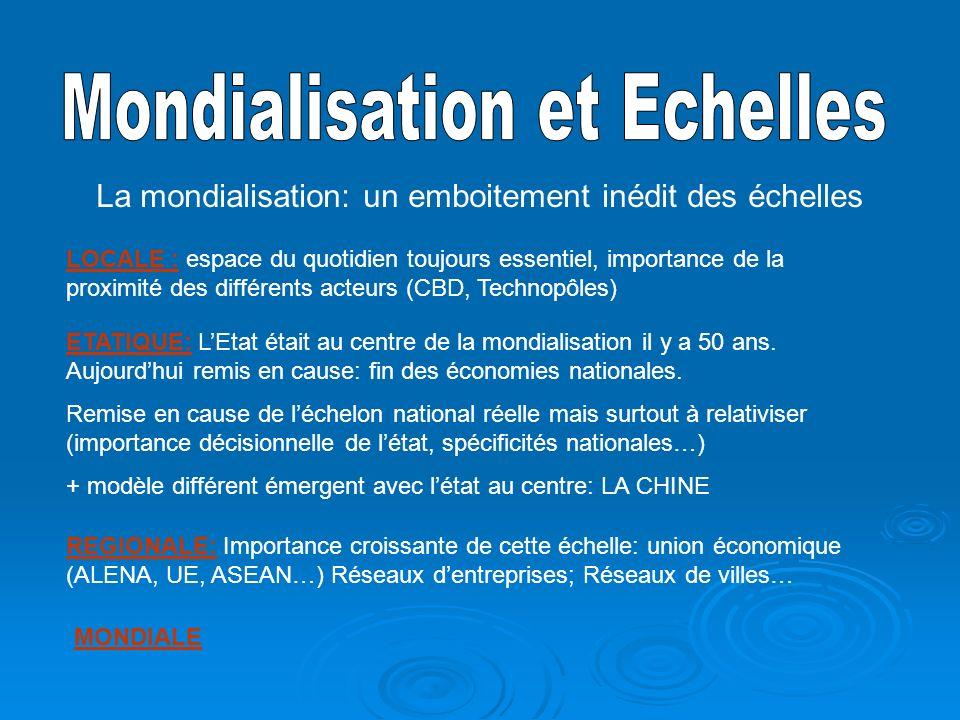Mondialisation et Echelles