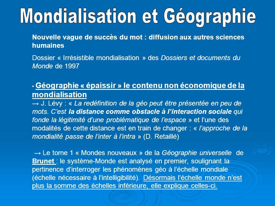 Mondialisation et Géographie