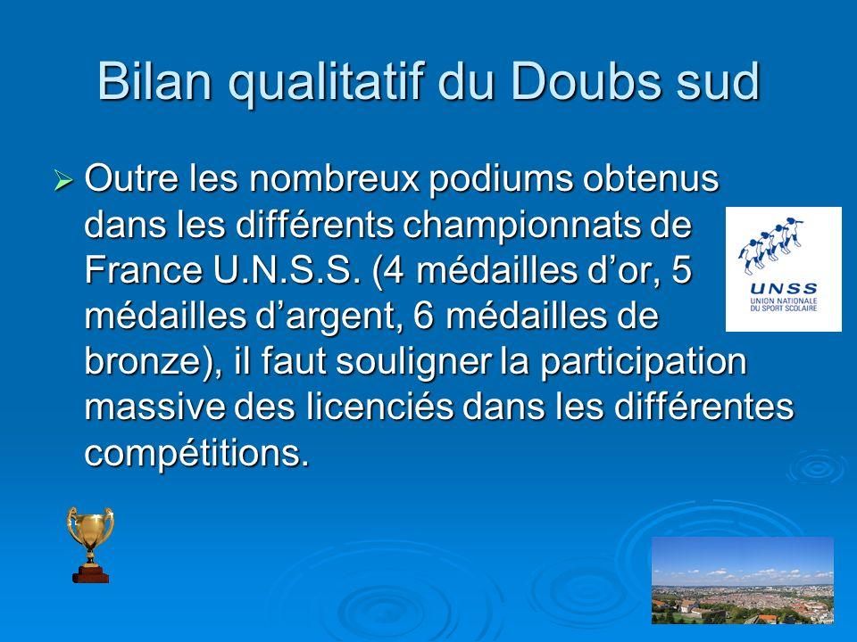 Bilan qualitatif du Doubs sud