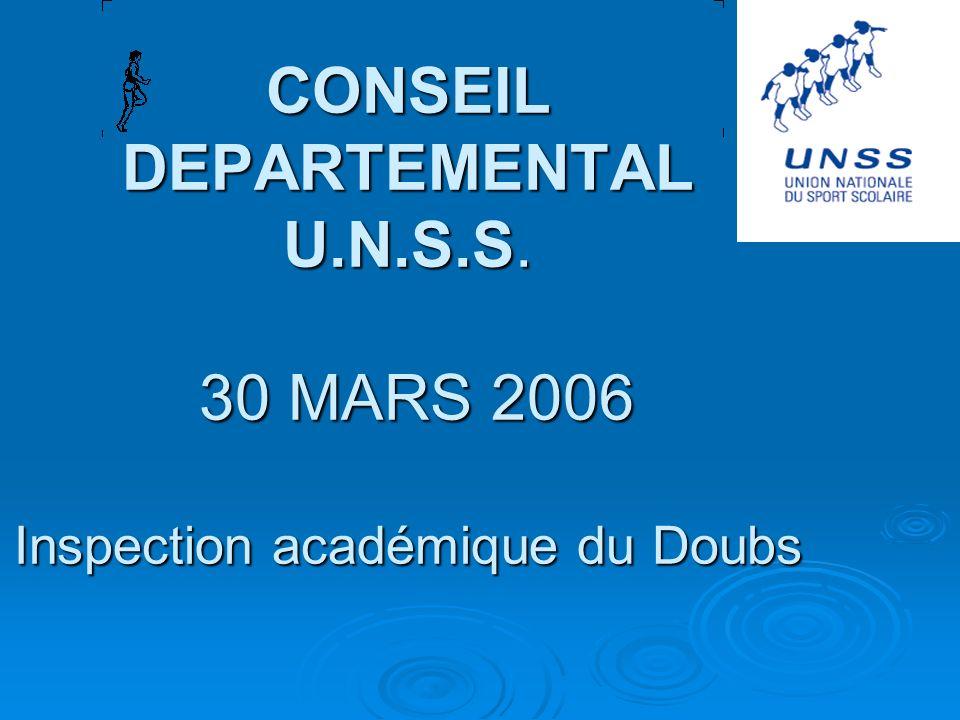CONSEIL DEPARTEMENTAL U. N. S. S