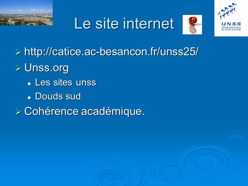 Le site internet http://catice.ac-besancon.fr/unss25/ Unss.org
