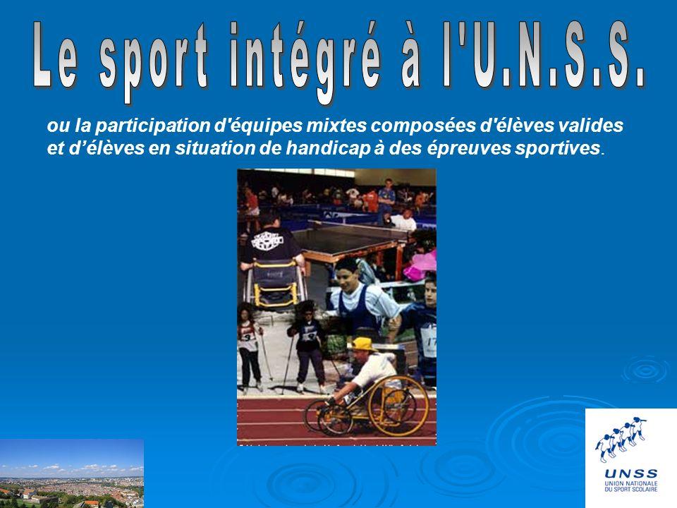 Le sport intégré à l U.N.S.S.
