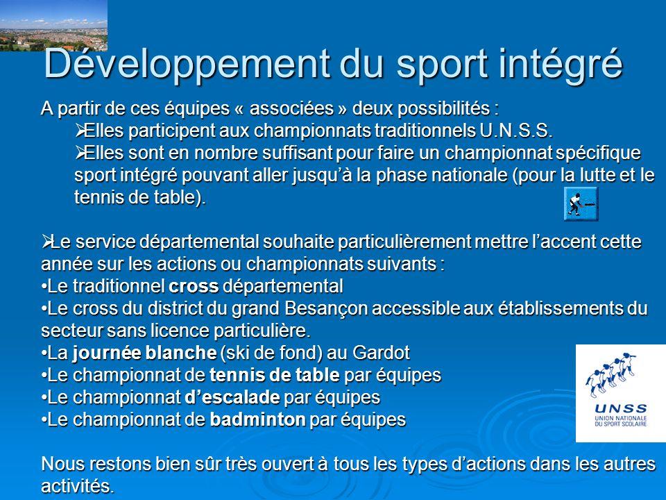 Développement du sport intégré