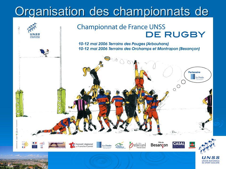 Organisation des championnats de France U.N.S.S. de rugby