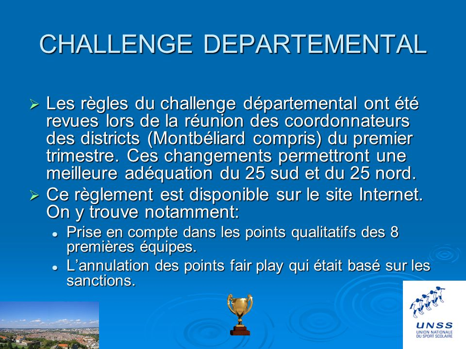 CHALLENGE DEPARTEMENTAL