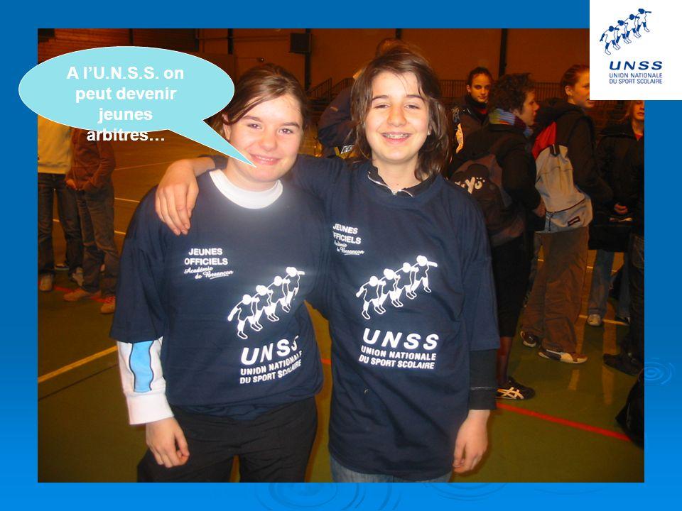 A l'U.N.S.S. on peut devenir jeunes arbitres…