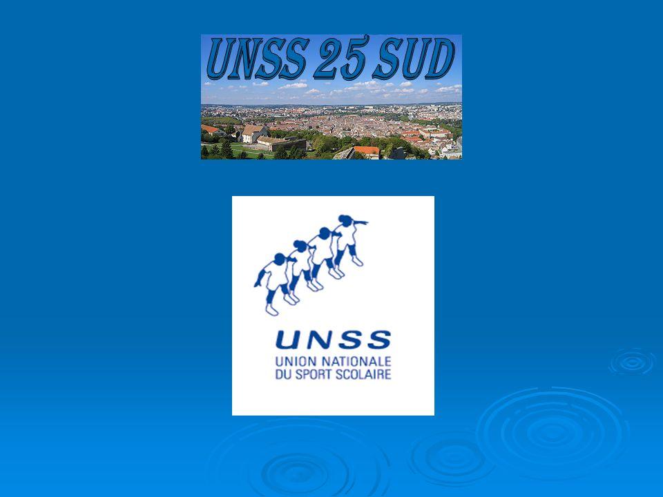 UNSS 25 sud Le département a la spécificité d'avoir le secteur de Montbéliard qui est rattaché sportivement au secteur de Belfort.