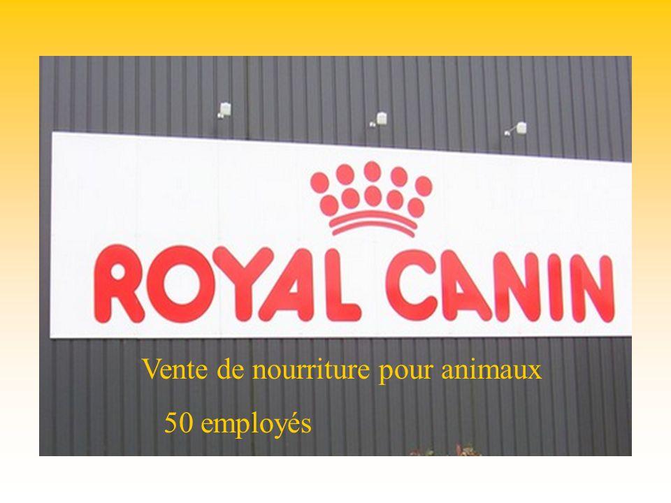 Royal canin Vente de nourriture pour animaux 50 employés