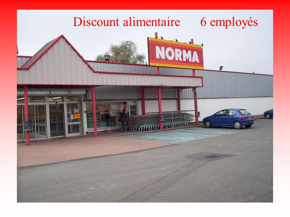 Discount alimentaire 6 employés