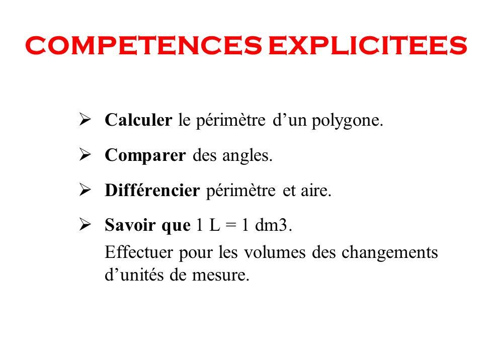 COMPETENCES EXPLICITEES