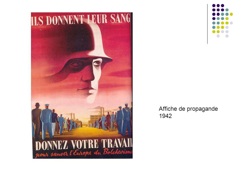 Affiche de propagande 1942