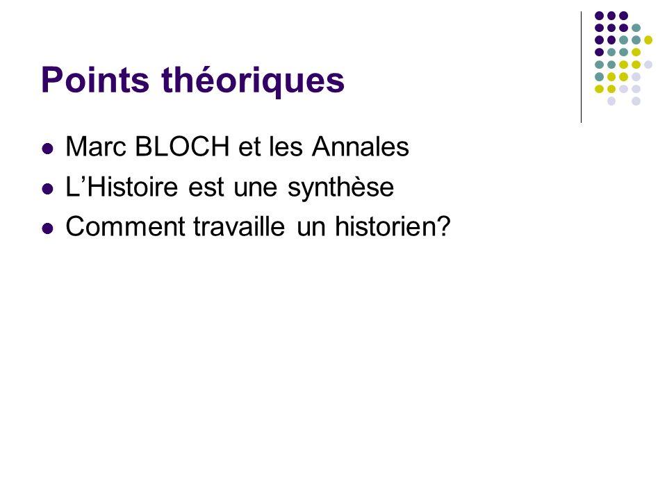 Points théoriques Marc BLOCH et les Annales