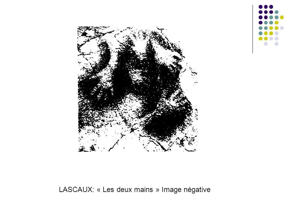 LASCAUX: « Les deux mains » Image négative