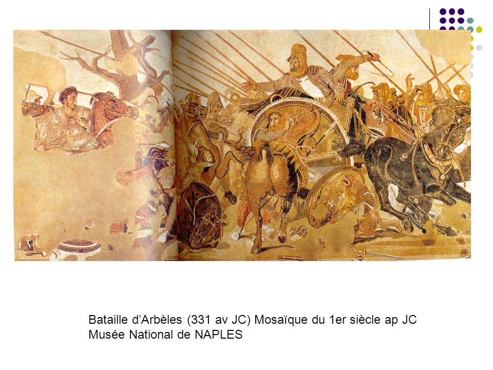 Bataille d'Arbèles (331 av JC) Mosaïque du 1er siècle ap JC Musée National de NAPLES