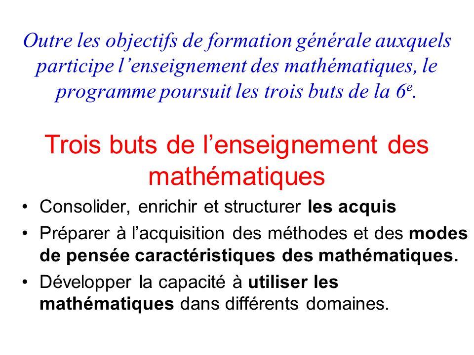 Trois buts de l'enseignement des mathématiques