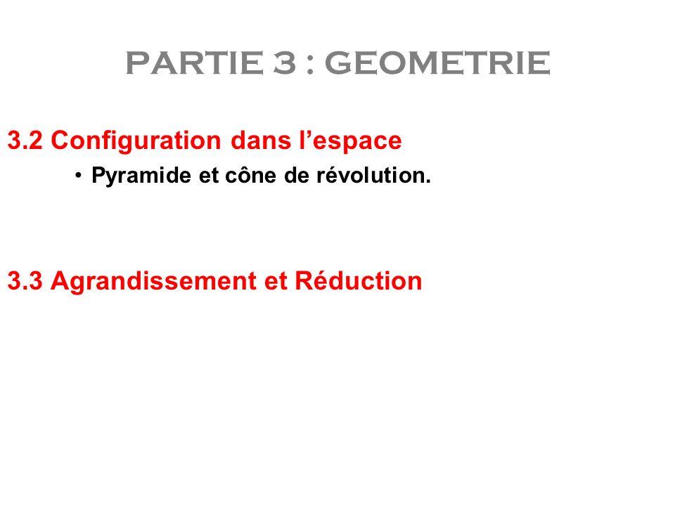 PARTIE 3 : GEOMETRIE 3.2 Configuration dans l'espace