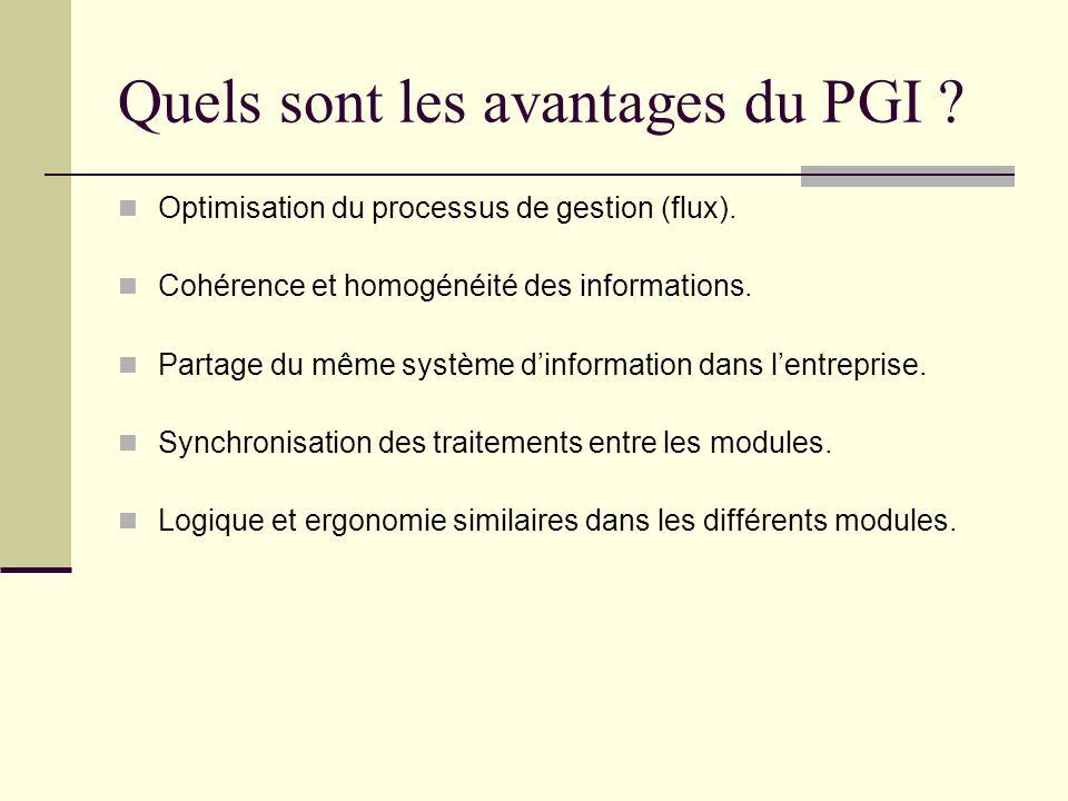 Quels sont les avantages du PGI