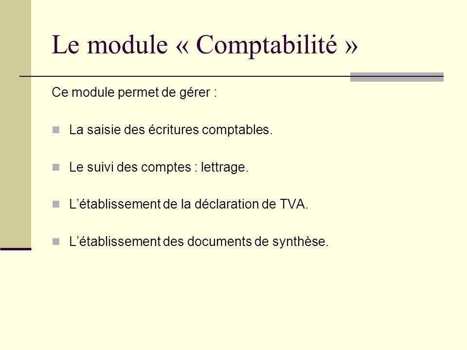 Le module « Comptabilité »