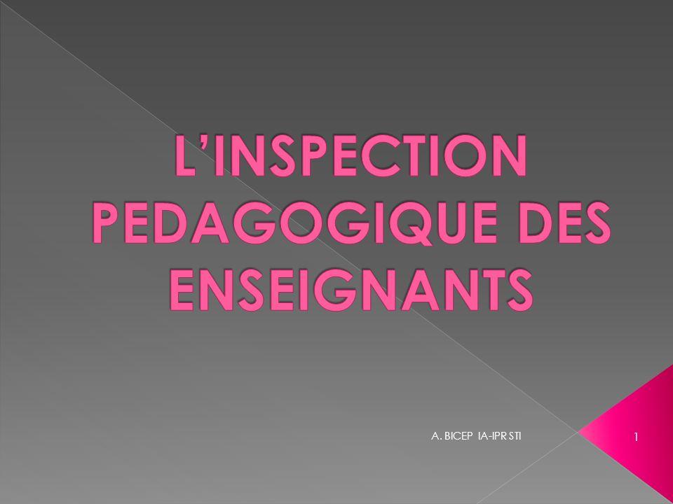 L'INSPECTION PEDAGOGIQUE DES ENSEIGNANTS