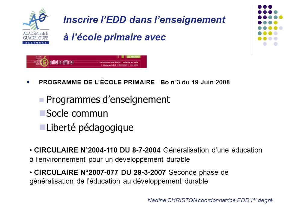 Inscrire l'EDD dans l'enseignement à l'école primaire avec