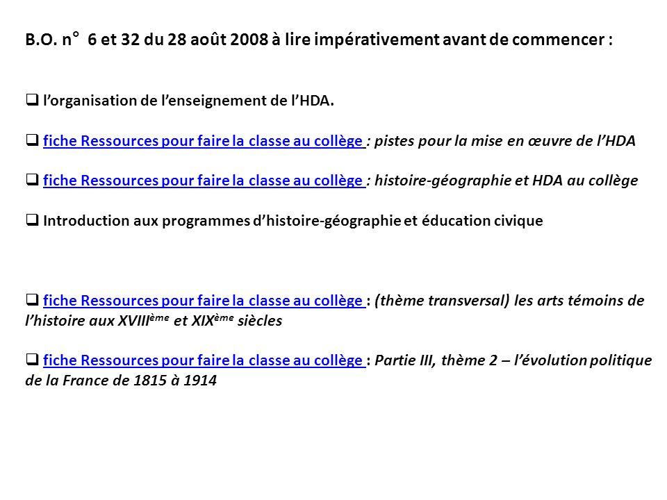 B.O. n° 6 et 32 du 28 août 2008 à lire impérativement avant de commencer :