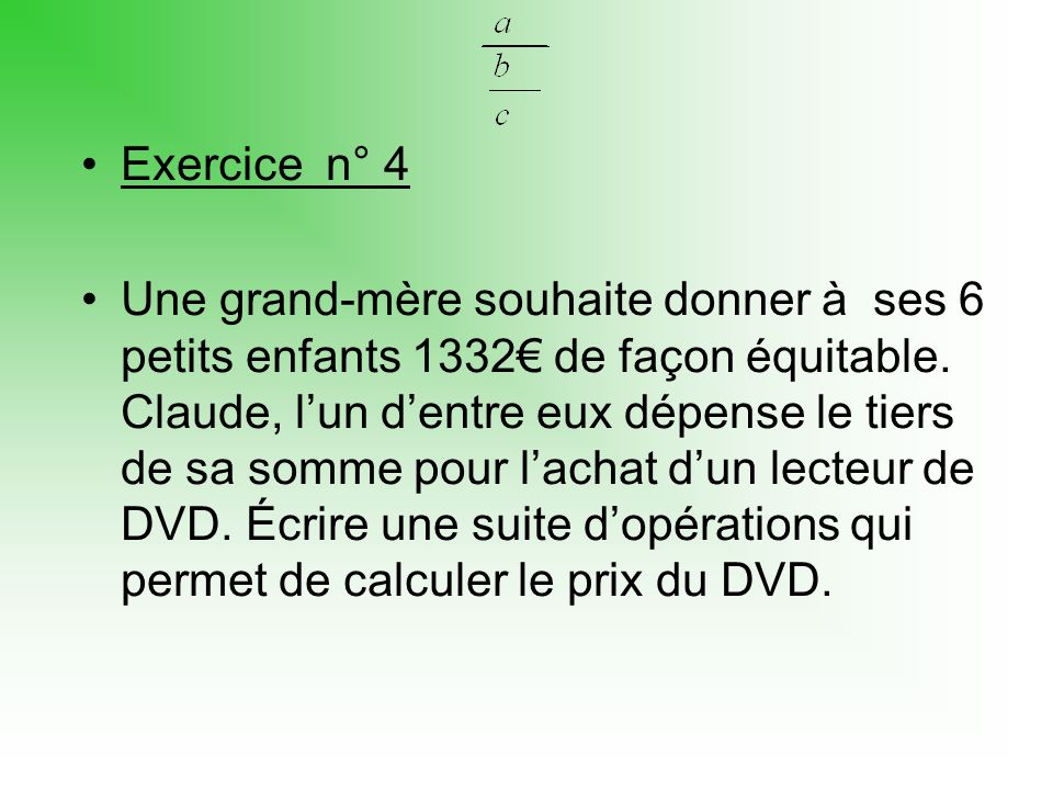 Exercice n° 4