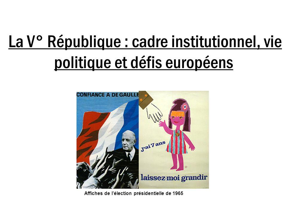 La V° République : cadre institutionnel, vie politique et défis européens