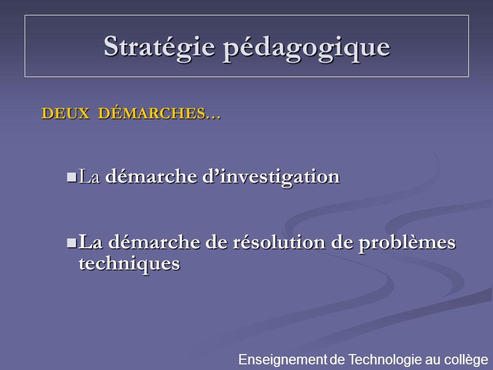 Stratégie pédagogique