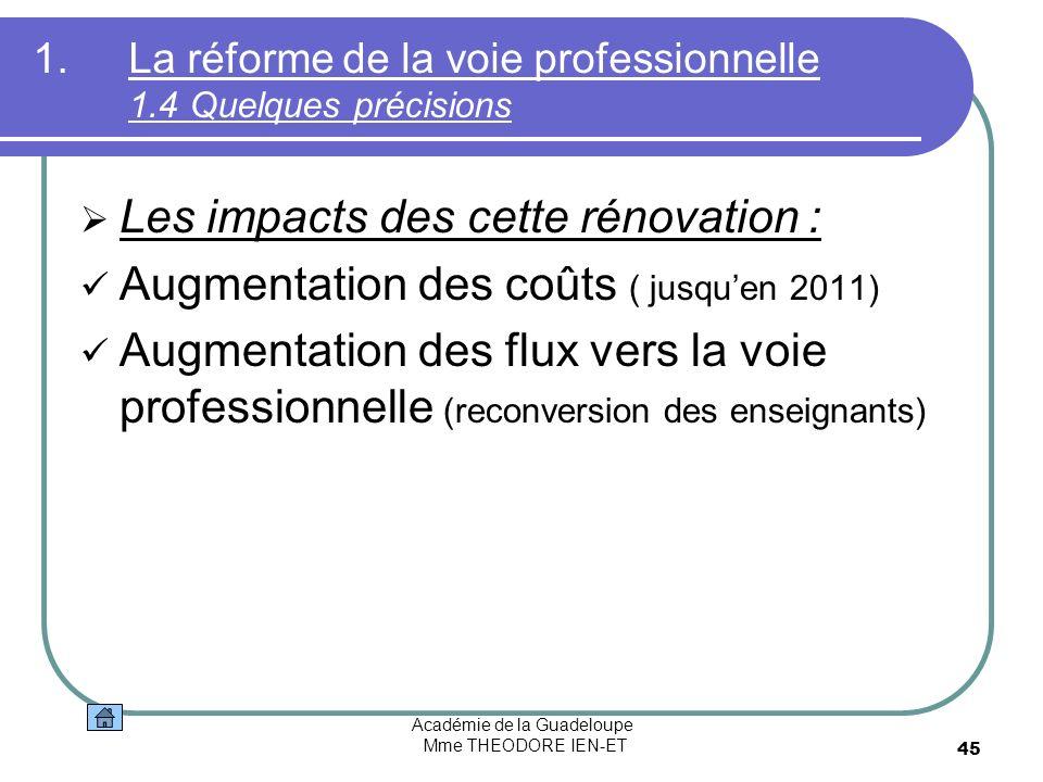 La réforme de la voie professionnelle 1.4 Quelques précisions
