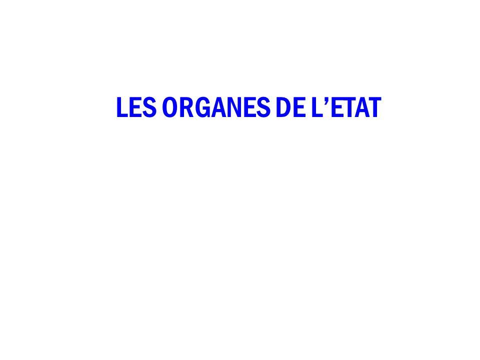 LES ORGANES DE L'ETAT