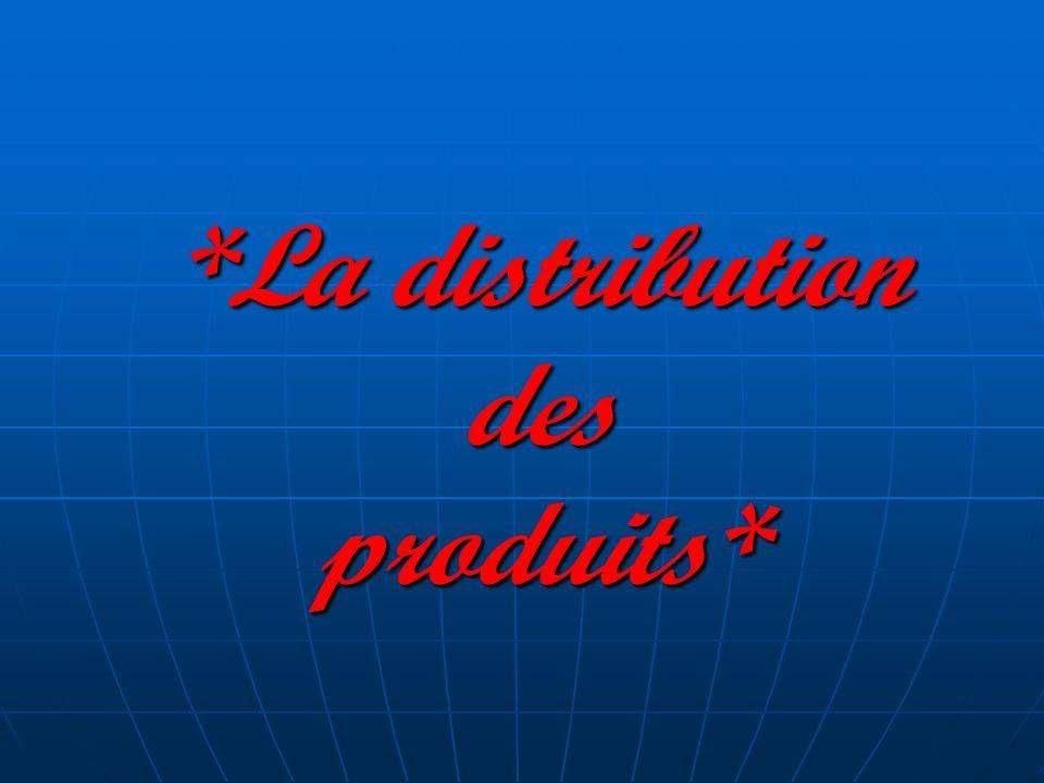 *La distribution des produits*