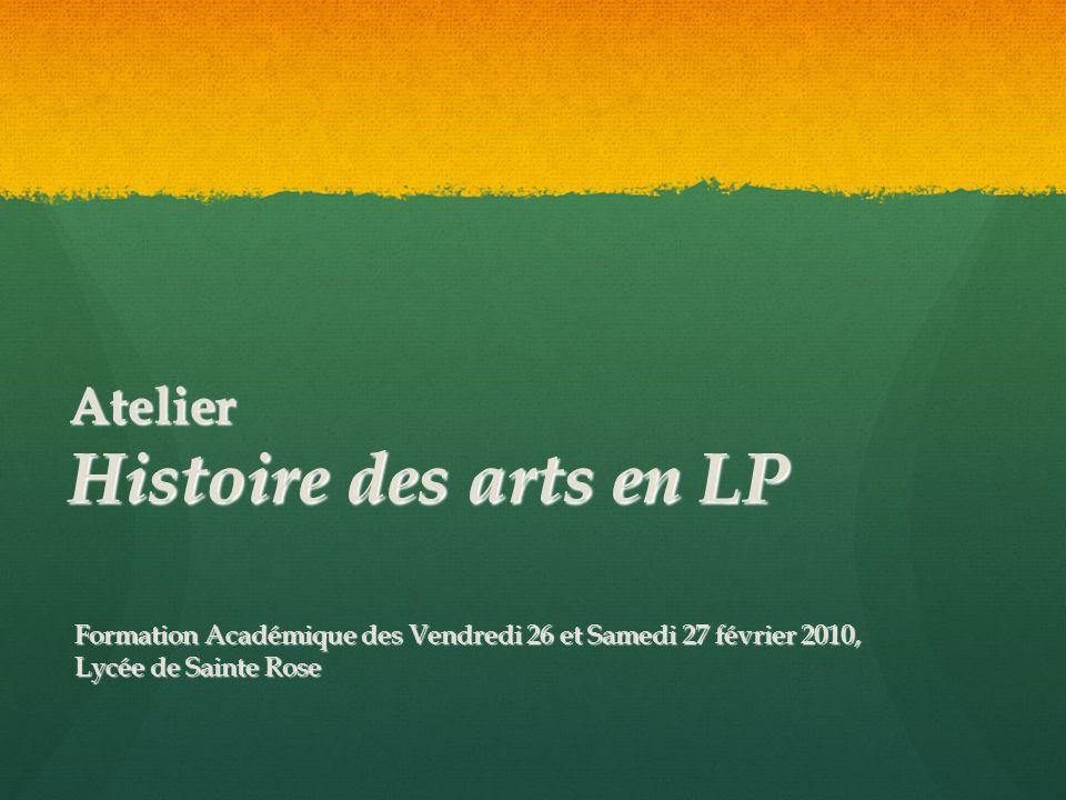 Atelier Histoire des arts en LP