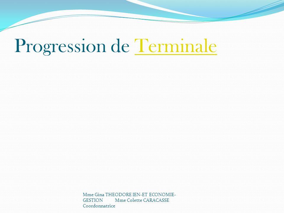 Progression de Terminale