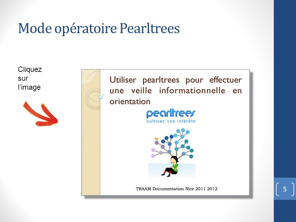 Mode opératoire Pearltrees