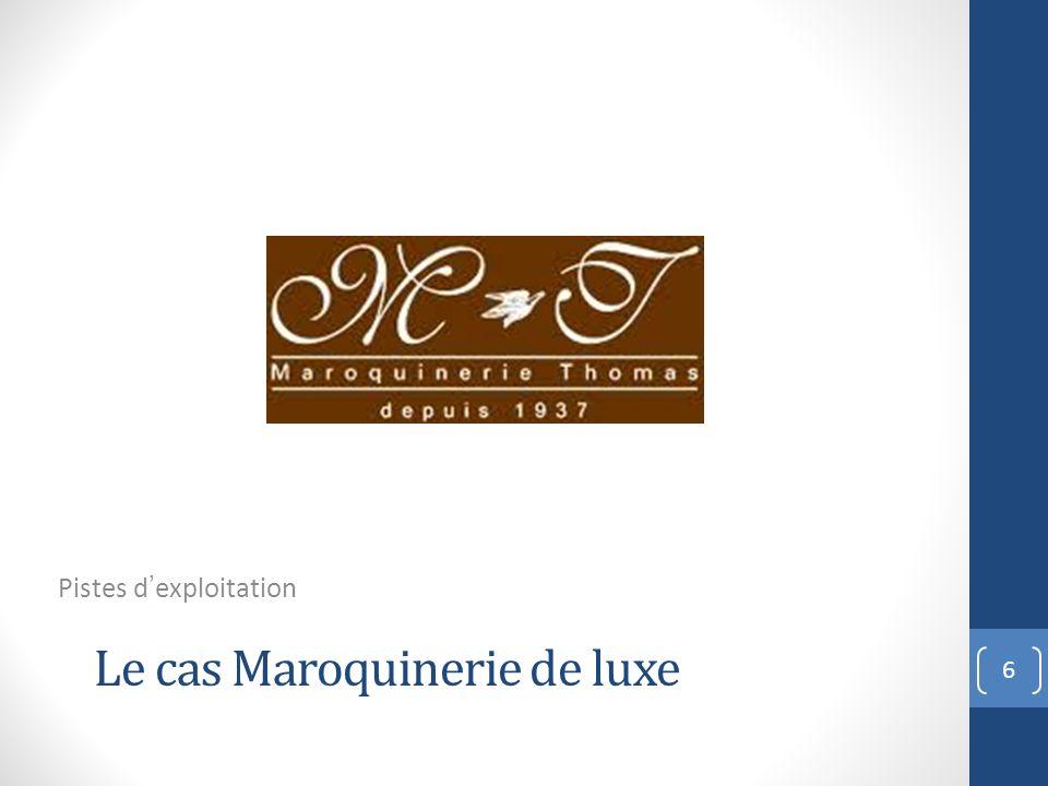 Le cas Maroquinerie de luxe