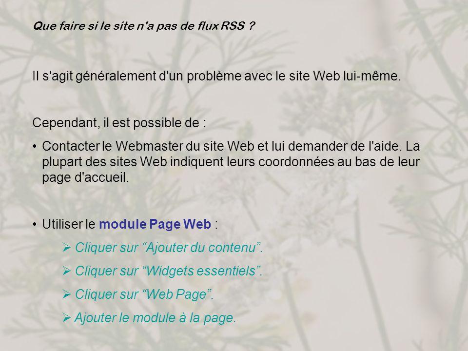 Il s agit généralement d un problème avec le site Web lui-même.